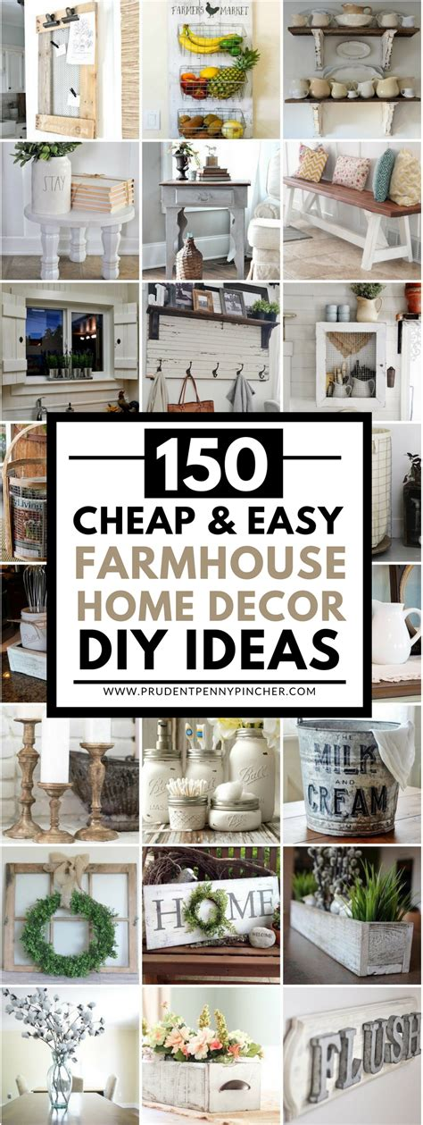 cheap  easy diy farmhouse style home decor ideas