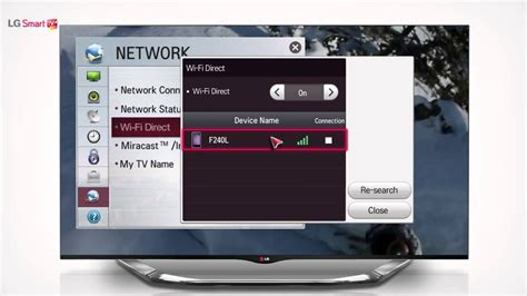 how to connect android to tv wireless lg smart tv smartshare wifi direct