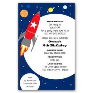 space rocket birthday invitations paperstyle
