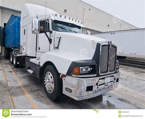 truck cab semi truck cab white blue trailer stock photo image of