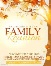 family reunion template postermywall