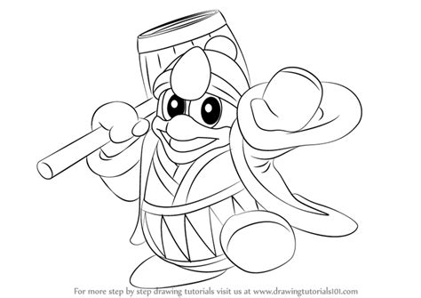 king dedede coloring page learn how to draw king dedede from super smash bros super