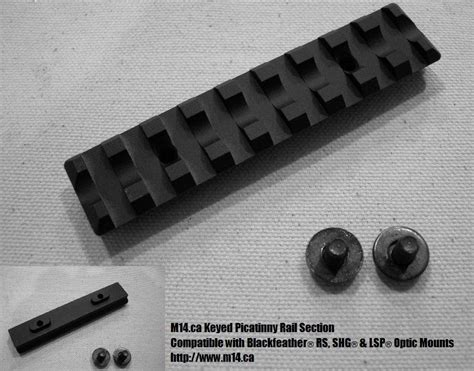 picatinny rail section m14 ca m14 blackfeather rs lsp shg keyed picatinny
