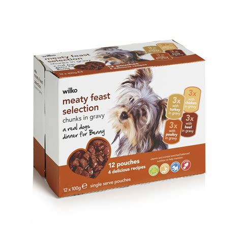 gravy for dogs wilko food turkey chicken beef and poultry in gravy for dogs 12 x 100g