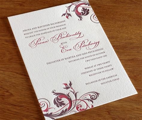 wedding invitation from groom s wording your wedding invitations groom hosts letterpress wedding invitation