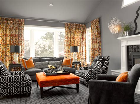 grey and orange living room ideas living rooms moth design coral sconce jonathan adler mirror vaulted ceiling