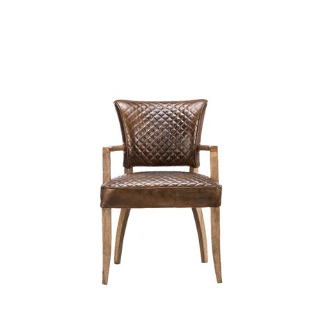 Timothy Oulton Mimi Quilt Dining Chair With Arms Dining Chairs Arms