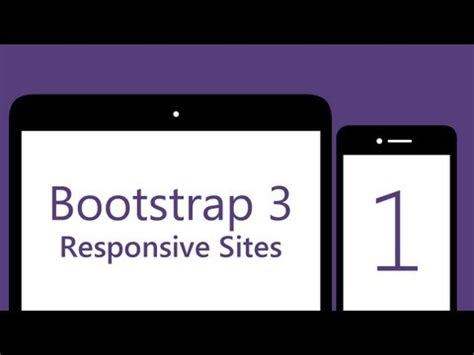 bootstrap tutorial one page watch bootstrap 3 tutorial create your first one page