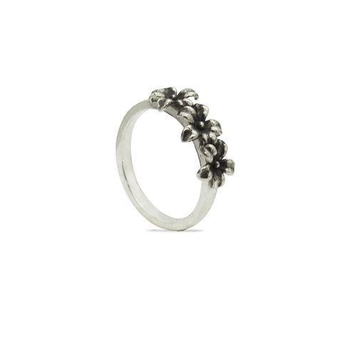 fiori in argento anello fedina con fiori in argento 925 made in italy