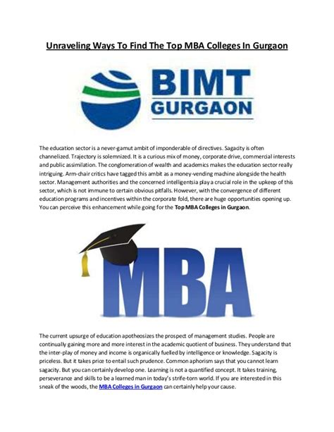 Ways To Get Mba by Unraveling Ways To Find The Top Mba Colleges In Gurgaon
