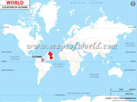 where is guyana on the world map where is guyana location of guyana