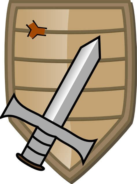 Sword And Shield Clipart sword and shield clip at clker vector clip