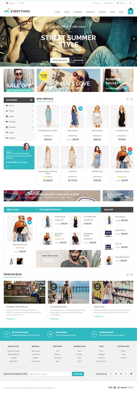 themes magento 40 best responsive magento multipurpose themes 2017