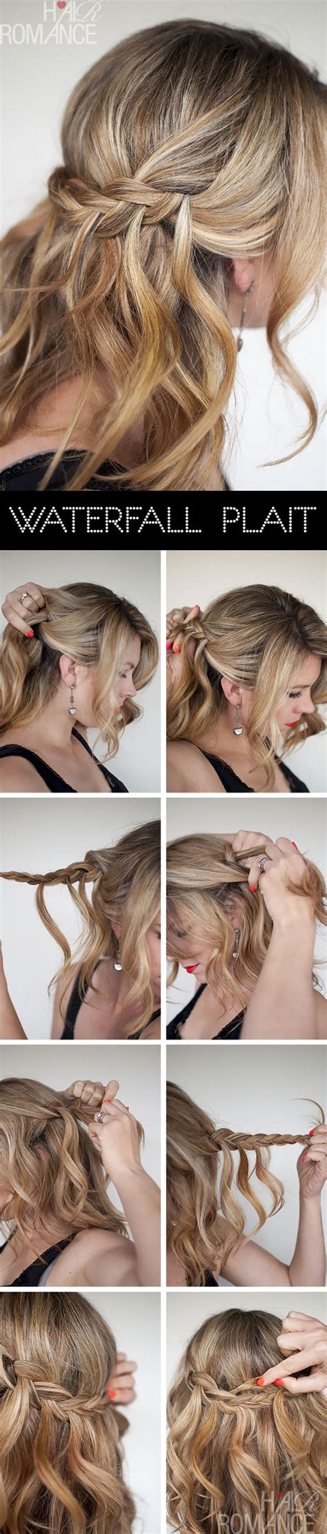 waterfall hairstyle step by step waterfall plait hairstyle tutorial hair romance