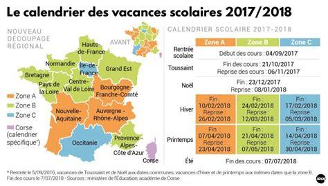 Vacances Scolaires 2017 Et 2018 Calendrier Vacances Scolaires 2017 2018