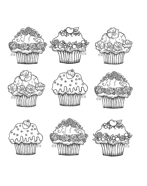 coloring pages for adults cupcakes cute cupcakes cupcakes and cakes coloring pages for adults