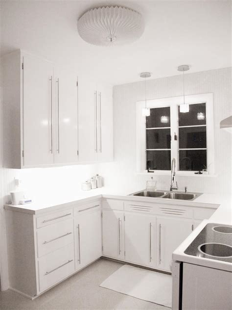 Contemporary White Kitchen Cabinets by Contemporary All White Kitchen Hgtv
