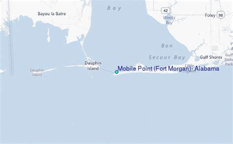 fort alabama map mobile point fort alabama tide station location