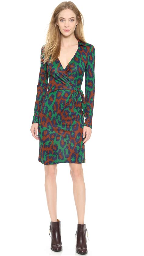 Dress Of The Day Dvf Printed Tank Dress by Lyst Diane Furstenberg Wrap Dress Leopard
