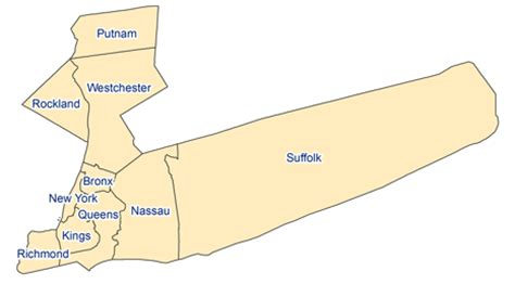 downstate new york map