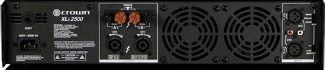 Power Lifier Crown Xli 2500 crown xli 2500 stereo power lifier 750w per channel 4 ohms compass