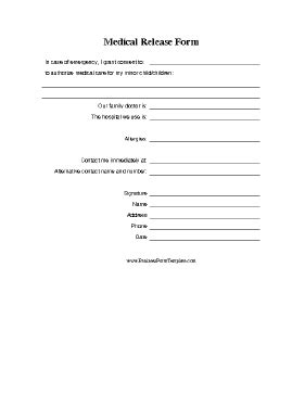 Medical Release Form For Minor Template Photo Release Form For Minors Template