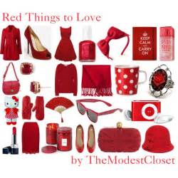 red things to love polyvore