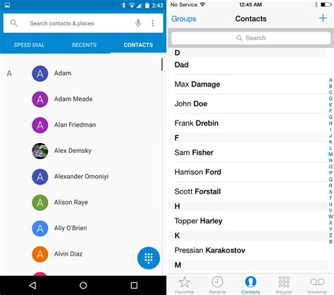 contacts app android android 5 0 lollipop vs ios 8 ui comparison vote for the better interface here