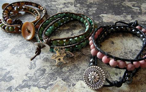 wrap bead bracelet tutorial great wrapped leather and bracelet tutorials the