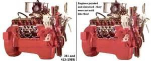 Dodge 361 Truck Engine Mopar Chrysler Dodge Plymouth Rb Series V8 Engines