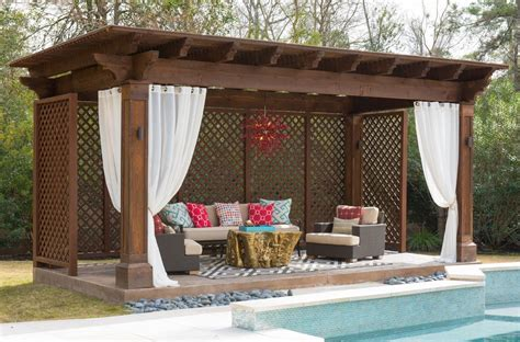 Mediterrane Pergola by Pergola Design Ideas Outdoor Pergola Curtains Swimming