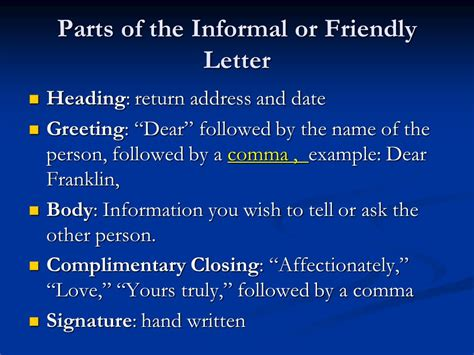 Business Letter Vs Friendly Letter Friendly Letters Vs Business Letters Ppt