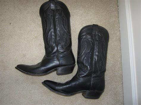 mens nocona black western cowboy boots pointed toe 10 2e