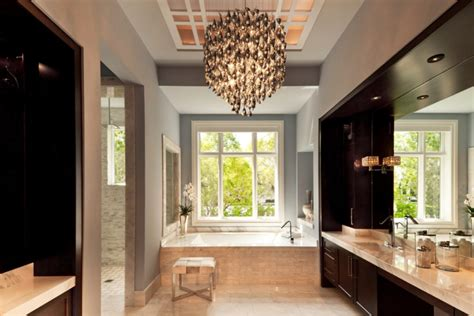 Contemporary Bathroom Chandeliers 20 Bathroom Chandelier Designs Decorating Ideas Design