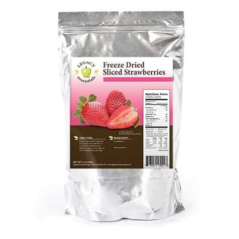 25 Year Shelf Food by Legacy Essentials Freeze Dried Strawberries 25 Year