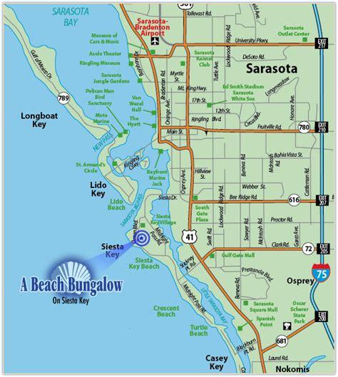 map of siesta florida a bungalow siesta key florida siesta key