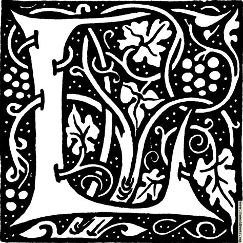 Inisial A decorative initial l