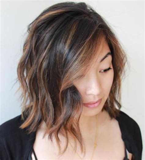image gallery long bob with highlights 40 on trend balayage short hair looks