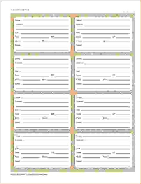 6 printable address book procedure template sle