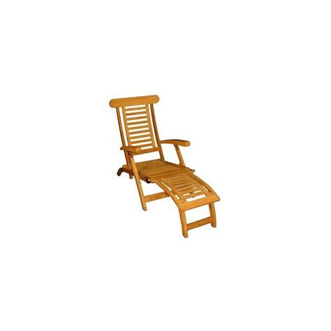 chaise en teck chaise longue en teck plantes et jardins
