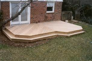 ground level decks and patios built to suit for your
