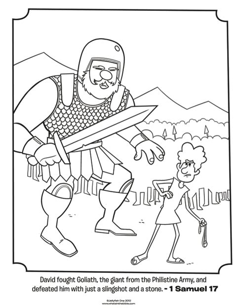david and goliath bible coloring pages what s in the