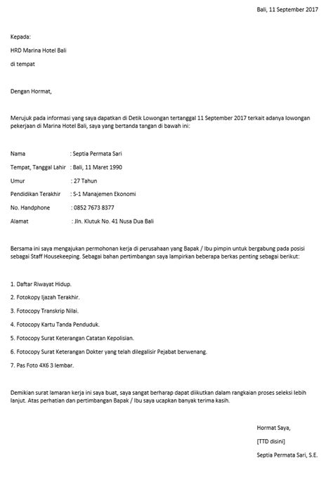 format surat lamaran kerja di hotel contoh surat lamaran kerja di hotel yang baik dan benar