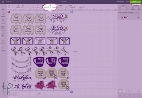 printable stickers cricut custom planner stickers with cricut print cut tutorial