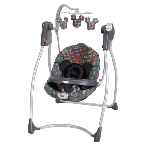 graco car seat swing frame graco lovin hug easy entry swing mickey mouse