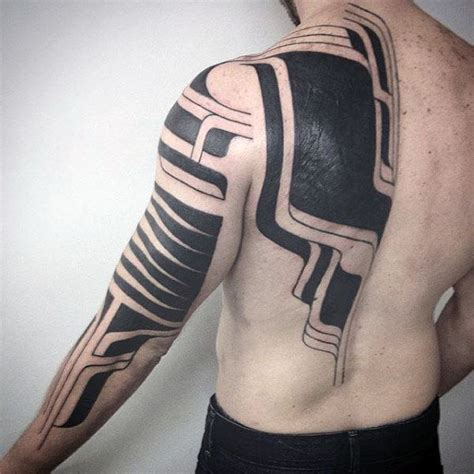 modern tribal tattoo designs 75 tribal arm tattoos for interwoven line design ideas