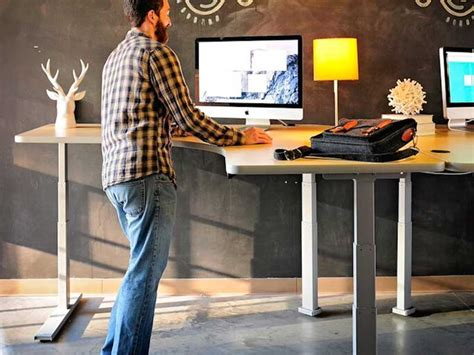 office desk standing standing desks los angeles office furniture crest