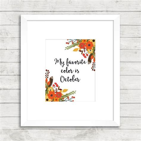 october is my favorite color my favorite color is october printable by
