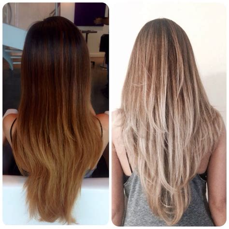 balayage highlights before and after home kit before and after balayage ombr 233 by kat yelp