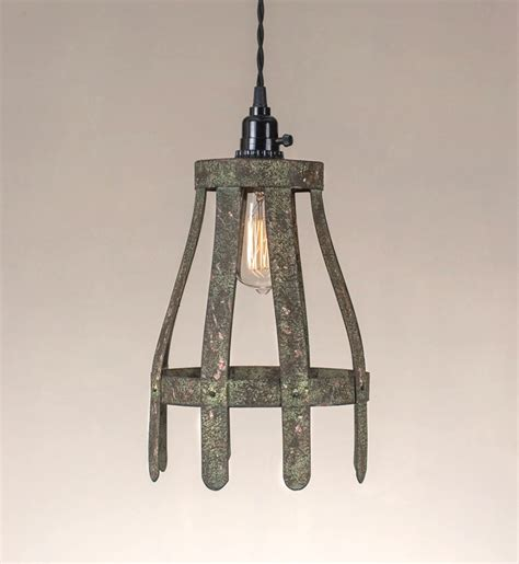 tin lighting fixtures picket fence sticks pendant light fixture in tin with aged vintage finish the bay